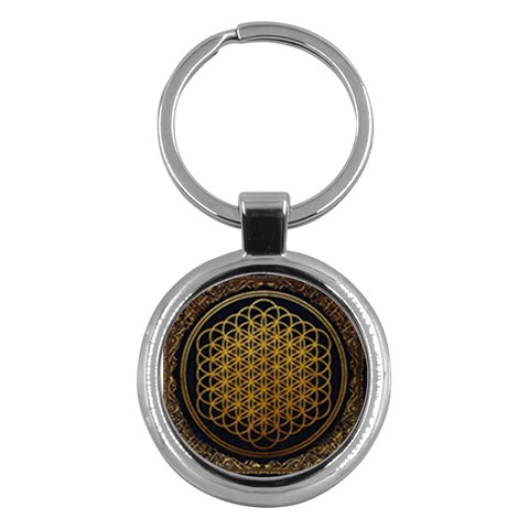 Bring Me The Horizon Cover Album Gold Key Chains (Round)