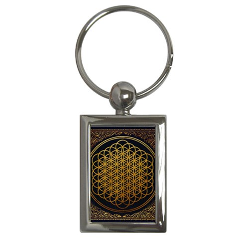 Bring Me The Horizon Cover Album Gold Key Chains (Rectangle)