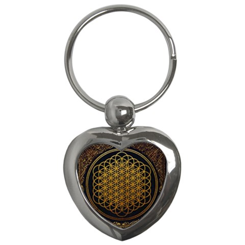 Bring Me The Horizon Cover Album Gold Key Chains (Heart)