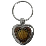 Bring Me The Horizon Cover Album Gold Key Chains (Heart)  Front