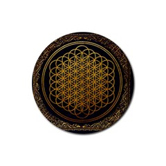 Bring Me The Horizon Cover Album Gold Rubber Round Coaster (4 pack)