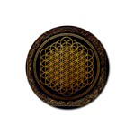 Bring Me The Horizon Cover Album Gold Rubber Round Coaster (4 pack)  Front