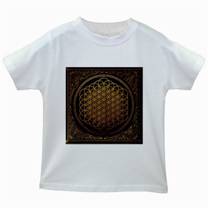 Bring Me The Horizon Cover Album Gold Kids White T-Shirts