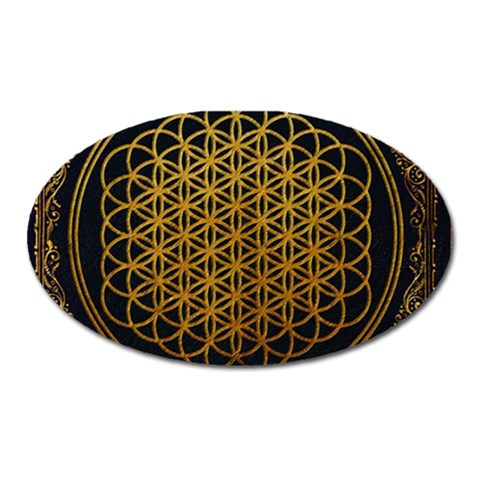 Bring Me The Horizon Cover Album Gold Oval Magnet