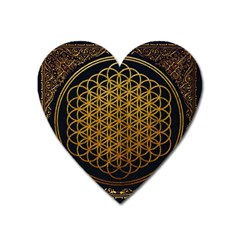 Bring Me The Horizon Cover Album Gold Heart Magnet