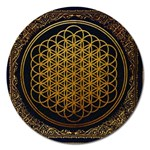 Bring Me The Horizon Cover Album Gold Magnet 5  (Round) Front