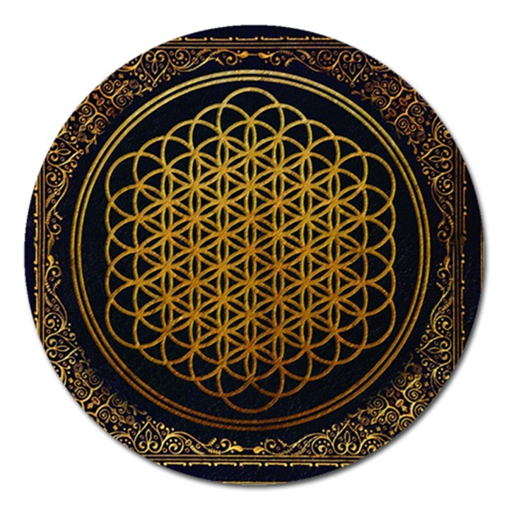 Bring Me The Horizon Cover Album Gold Magnet 5  (Round)