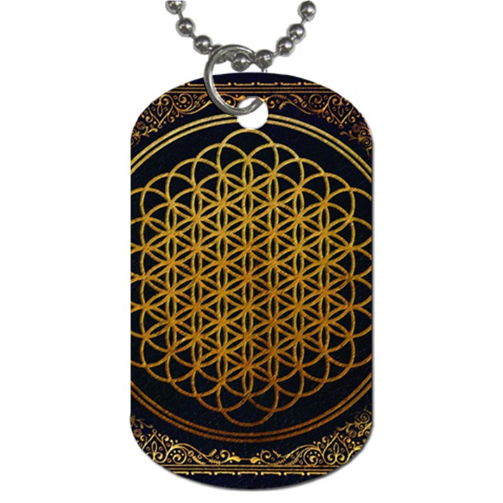 Bring Me The Horizon Cover Album Gold Dog Tag (One Side)