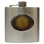 Bring Me The Horizon Cover Album Gold Hip Flask (6 oz) Front