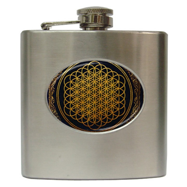 Bring Me The Horizon Cover Album Gold Hip Flask (6 oz)