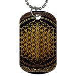 Bring Me The Horizon Cover Album Gold Dog Tag (Two Sides) Back