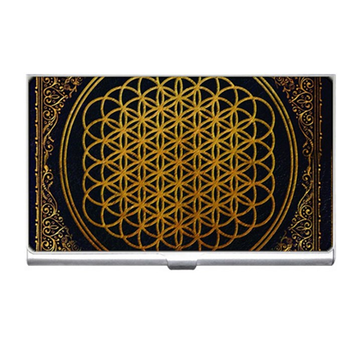 Bring Me The Horizon Cover Album Gold Business Card Holders