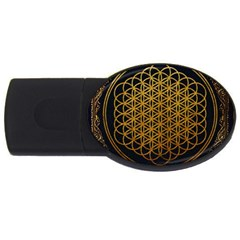 Bring Me The Horizon Cover Album Gold USB Flash Drive Oval (1 GB)