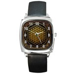 Bring Me The Horizon Cover Album Gold Square Metal Watch Front