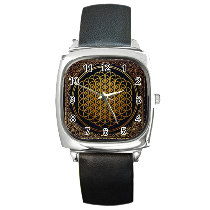 Bring Me The Horizon Cover Album Gold Square Metal Watch