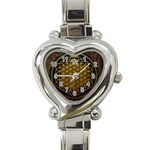 Bring Me The Horizon Cover Album Gold Heart Italian Charm Watch Front