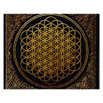 Bring Me The Horizon Cover Album Gold Rectangular Jigsaw Puzzl Front