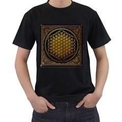 Bring Me The Horizon Cover Album Gold Men s T Shirt (black) (two Sided)
