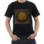 Bring Me The Horizon Cover Album Gold Men s T-Shirt (Black) (Two Sided) Front
