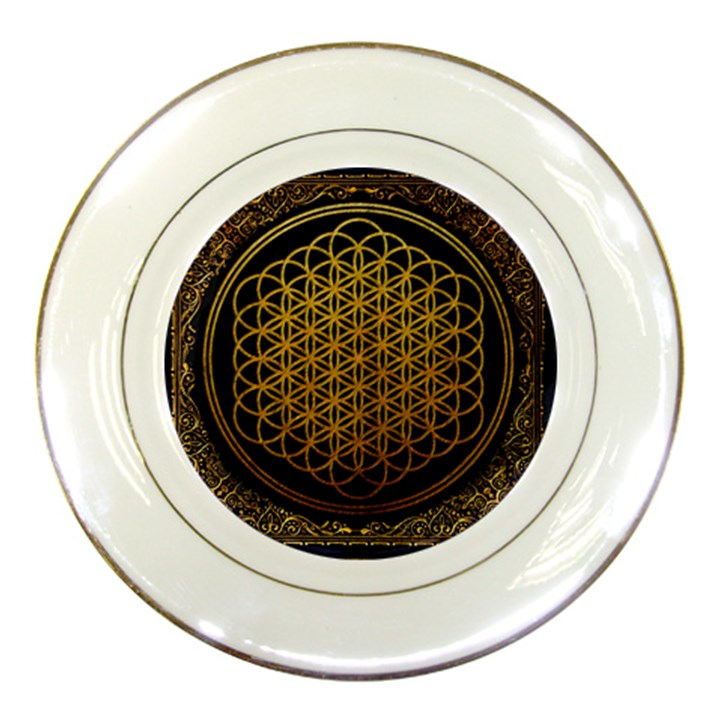 Bring Me The Horizon Cover Album Gold Porcelain Plates