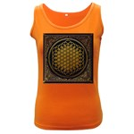 Bring Me The Horizon Cover Album Gold Women s Dark Tank Top Front