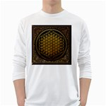 Bring Me The Horizon Cover Album Gold White Long Sleeve T-Shirts Front