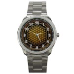 Bring Me The Horizon Cover Album Gold Sport Metal Watch Front