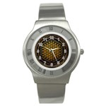 Bring Me The Horizon Cover Album Gold Stainless Steel Watch Front