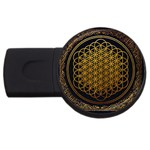 Bring Me The Horizon Cover Album Gold USB Flash Drive Round (4 GB)  Front