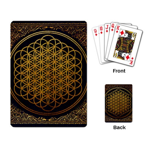 Bring Me The Horizon Cover Album Gold Playing Card