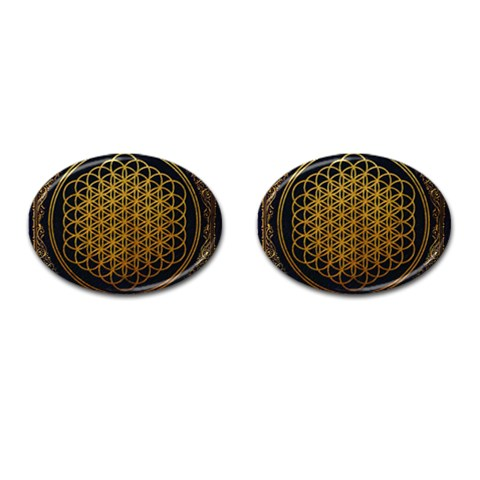 Bring Me The Horizon Cover Album Gold Cufflinks (Oval)