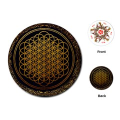 Bring Me The Horizon Cover Album Gold Playing Cards (Round)