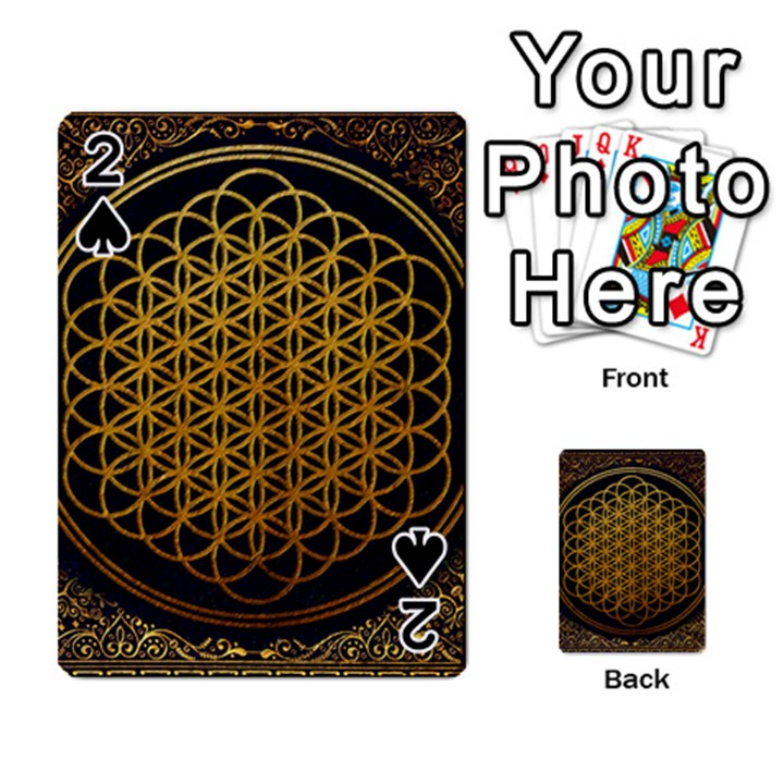 Bring Me The Horizon Cover Album Gold Playing Cards 54 Designs