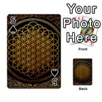 Bring Me The Horizon Cover Album Gold Playing Cards 54 Designs  Front - Spade5