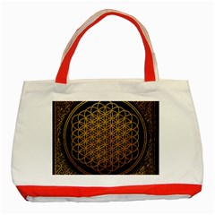 Bring Me The Horizon Cover Album Gold Classic Tote Bag (Red)