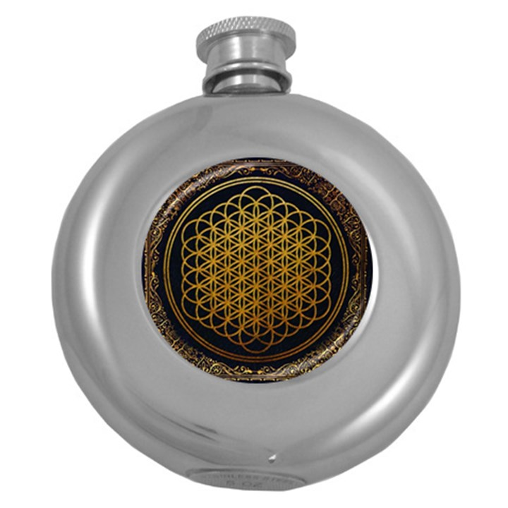 Bring Me The Horizon Cover Album Gold Round Hip Flask (5 oz)