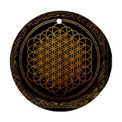 Bring Me The Horizon Cover Album Gold Round Ornament (two Sides)