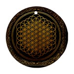 Bring Me The Horizon Cover Album Gold Round Ornament (Two Sides)  Front