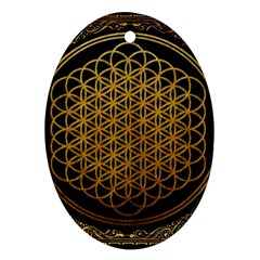 Bring Me The Horizon Cover Album Gold Oval Ornament (two Sides)