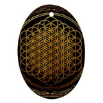 Bring Me The Horizon Cover Album Gold Oval Ornament (Two Sides) Back