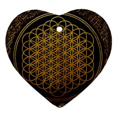 Bring Me The Horizon Cover Album Gold Heart Ornament (2 Sides)