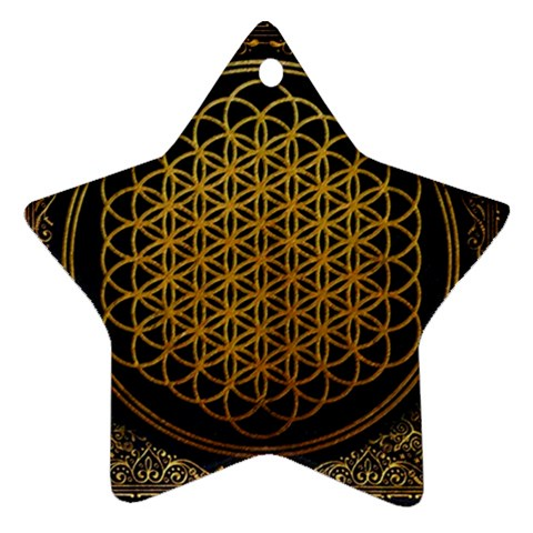 Bring Me The Horizon Cover Album Gold Star Ornament (Two Sides)