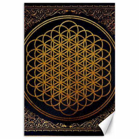 Bring Me The Horizon Cover Album Gold Canvas 12  x 18