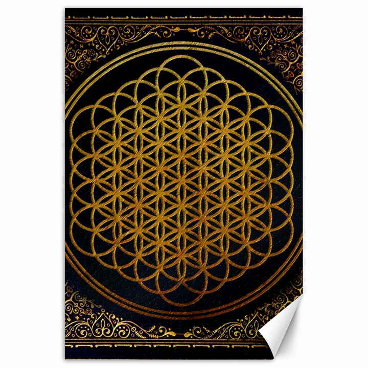 Bring Me The Horizon Cover Album Gold Canvas 20  x 30