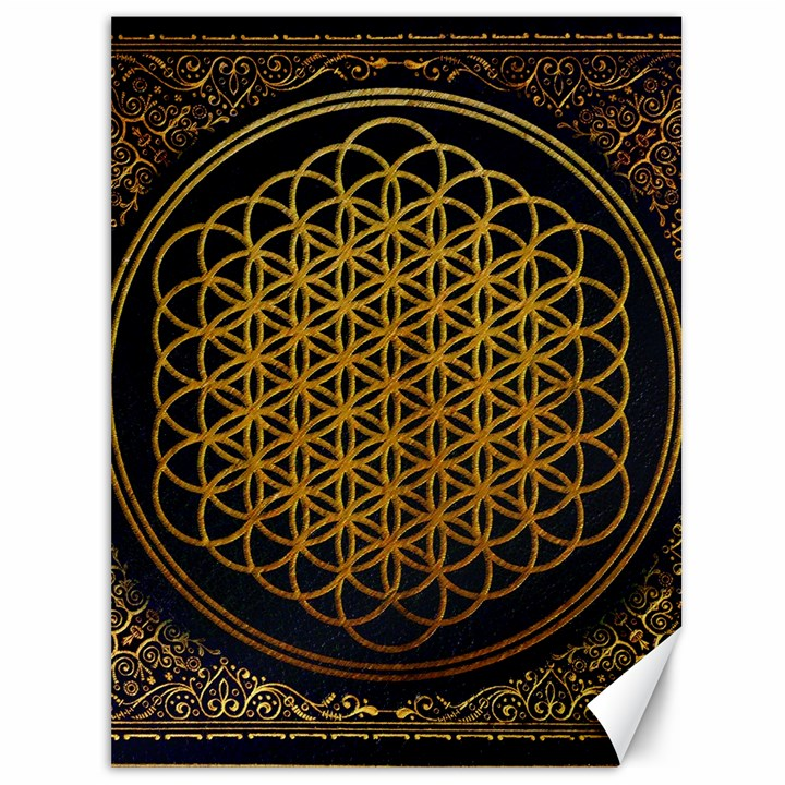 Bring Me The Horizon Cover Album Gold Canvas 36  x 48