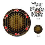 Bring Me The Horizon Cover Album Gold Playing Cards 54 (Round)  Front - Heart7