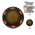Bring Me The Horizon Cover Album Gold Playing Cards 54 (Round)  Front - Heart9