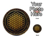 Bring Me The Horizon Cover Album Gold Playing Cards 54 (Round)  Back