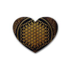 Bring Me The Horizon Cover Album Gold Rubber Coaster (Heart)