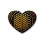 Bring Me The Horizon Cover Album Gold Rubber Coaster (Heart)  Front